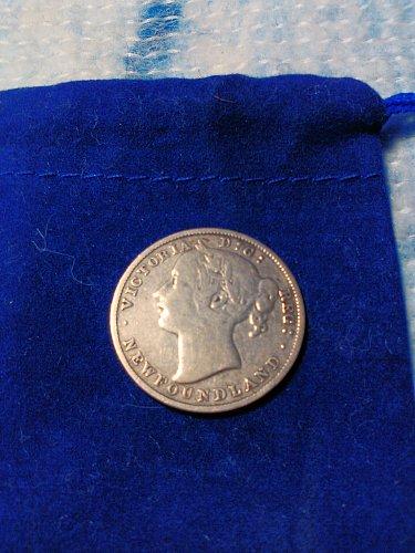 (.925) SILVER 1885 NEWFOUNDLAND 20 CENT