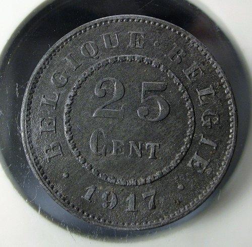 Belgium 1917 25 Centimes