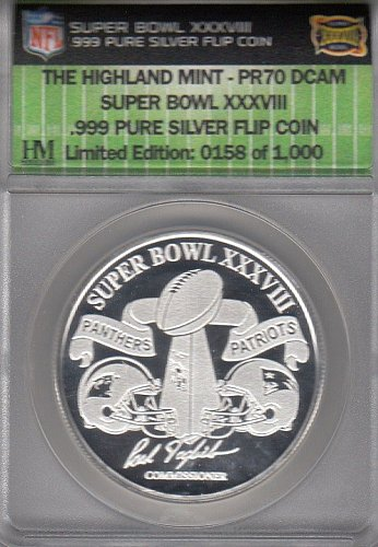 Super Bowl XXXVIII 1 ounce Silver Coin