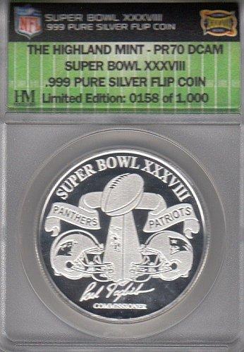Super Bowl XXXVIII 1 ounce Silver Coin