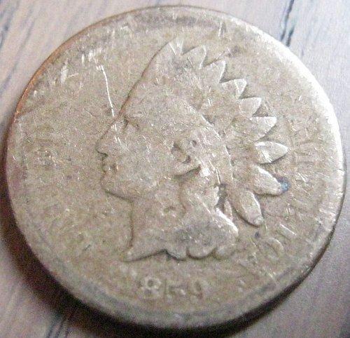 1859 Indian Head Cent Filler #28