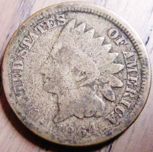 1864 CN Indian Head Cent Solid Mid-Grade Details #45