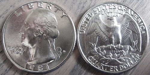 1981-D Washington Quarter Cherry Picked from Large Hoard Extra Nice!