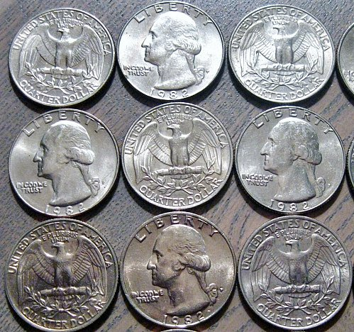 1982-P Washington Quarter Very Choice AU Like One of Those Shown