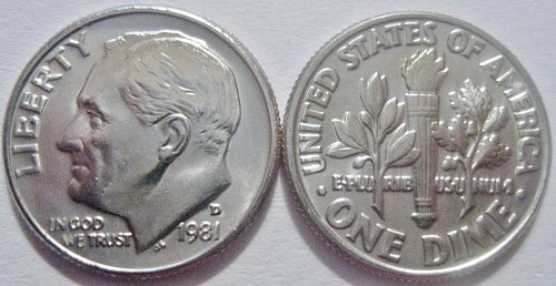 1981-D Roosevelt Dime Quarter Cherry Picked from Large Hoard Extra Nice!