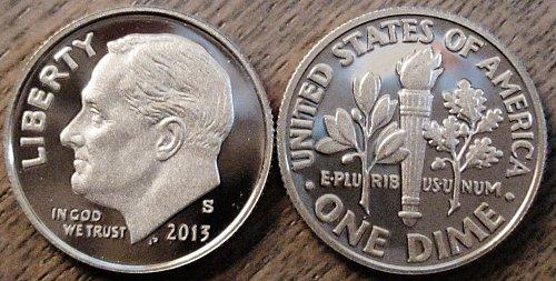 2013-S Clad Cameo Proof Roosevelt Dime Superb Problem Free Low Mintage Rather Sc