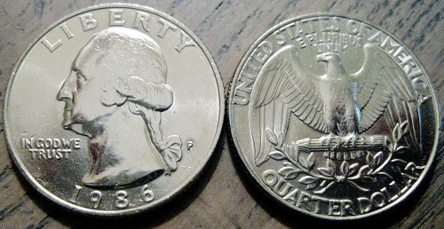 1986-P Washington Quarter Cherry Picked MS-65 Quality From Mint Set