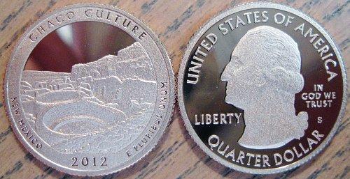 2012-S Clad Deep Cameo Proof Chaco Culture Quarter Has Minimal Toning