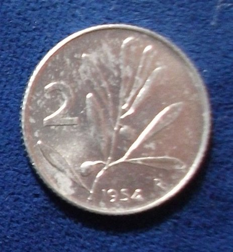 1954R Italy 2 Lire UNC
