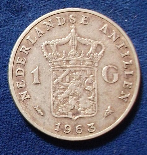 1963 Netherlands Antilles Gulden VF