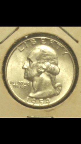 1959-D quarter(BU),1957-P quarter and dime (Proof)