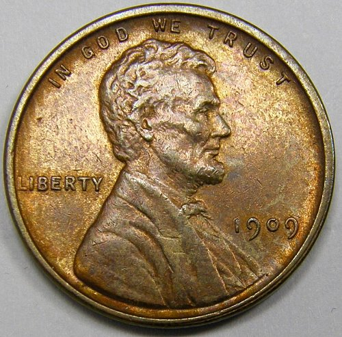 1909 P vdb Lincoln Wheat Cent #2