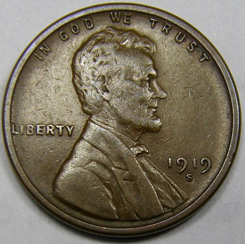 1919 S Lincoln Wheat Cent #2