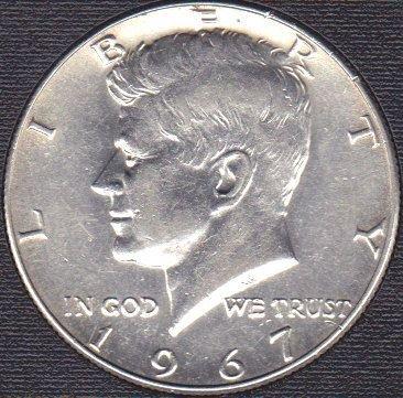 1967 P Kennedy Half Dollar 40% Silver