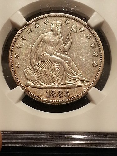 1886 Seated Liberty Half - RARE