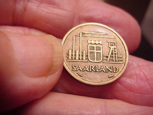 10 zehn franken  saarland