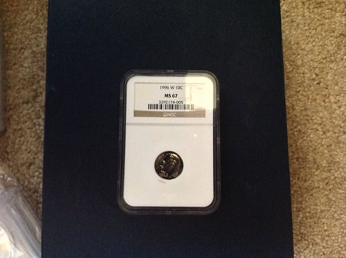 1996-W Roosevelt Dime. NGC MS67. Key dime in series.