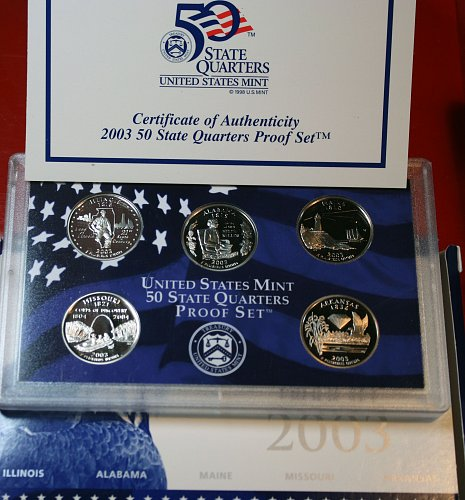 2003 S PROOF STATE QUARTERS SET