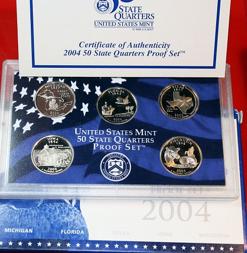 2004 S PROOF STATE QUARTERS SET