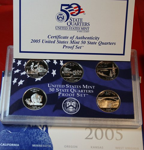 2005 S PROOF STATE QUARTERS SET