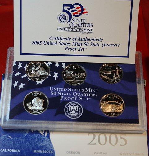 2005 S PROOF STATE QUARTERS SET