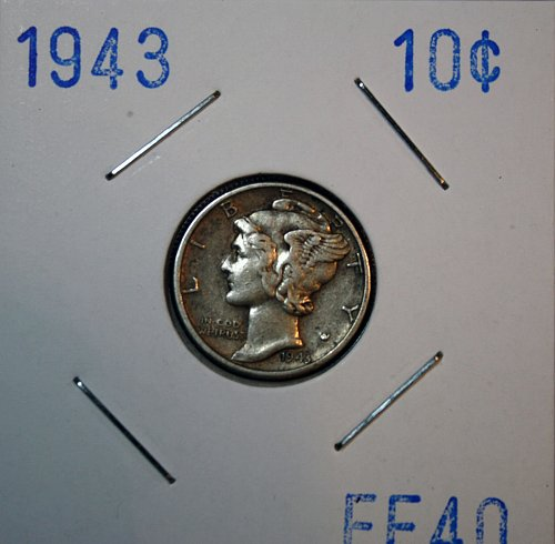 1943 P Mercury Dime