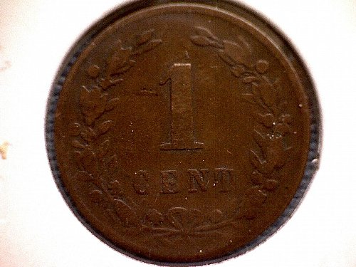 1877 NETHERLANDS  ONE CENT