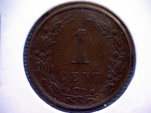 1898 NETHERLANDS ONE CENT