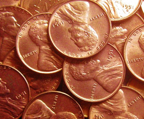 1951-D Brilliant Uncirculated Lincoln Cent Carbon Spotted One Like Those Shown
