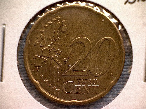2001B  NETHERLANDS TWENTY EURO CENTS
