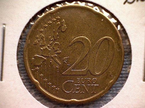 2001B  NETHERLANDS TWENTY EURO CENTS