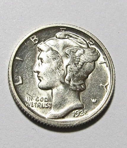 A Great Looking 1935-D Mercury Dime