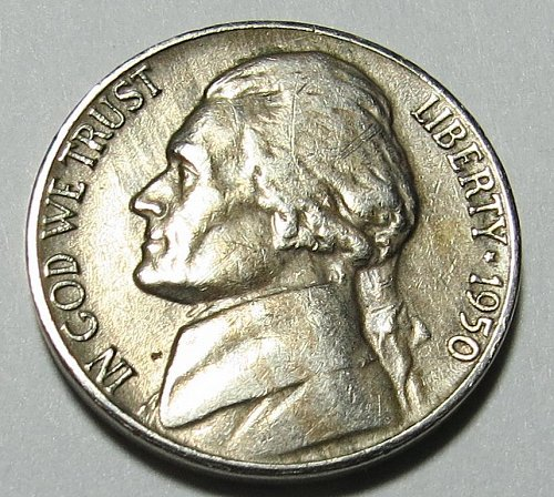 Good quality 1950-D Jefferson Nickel