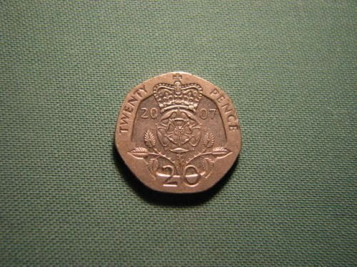 2007 Great Britain 20 pence coin