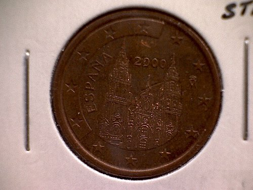 2000M  SPAIN FIVE EURO CENTS