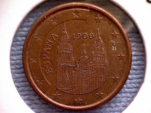 1999M  SPAIN ONE EURO CENT