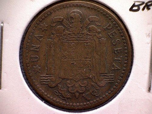 1953 (56)  SPAIN ONE PESETA