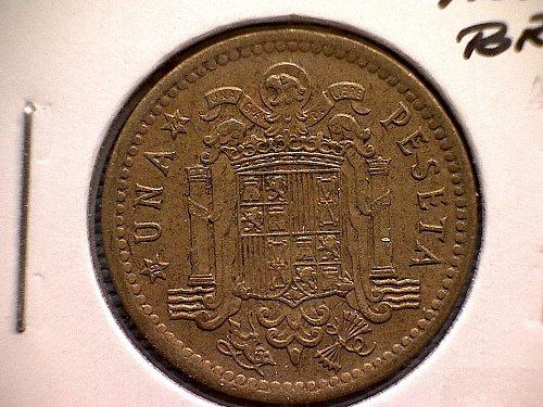 1966 (74)  SPAIN ONE PESETA