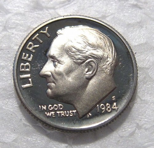 1984 S ROOSEVELT DIME PROOF