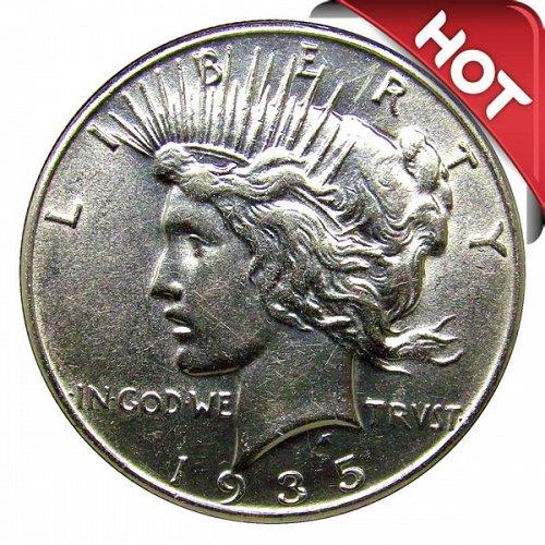 1935 Peace Silver Dollar - BU