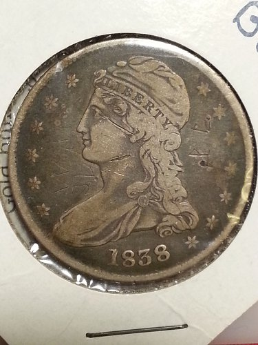 1838 Capped Bust Half