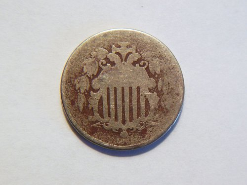 1866 *With Rays* Shield Nickel