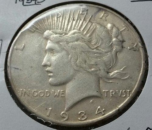 1934 S Peace Dollar ~ F 15