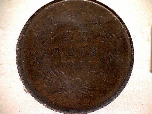 1884 PORTUGAL TWENTY REIS