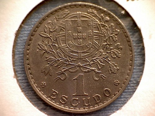 1961 PORTUGAL  ONE ESCUDO