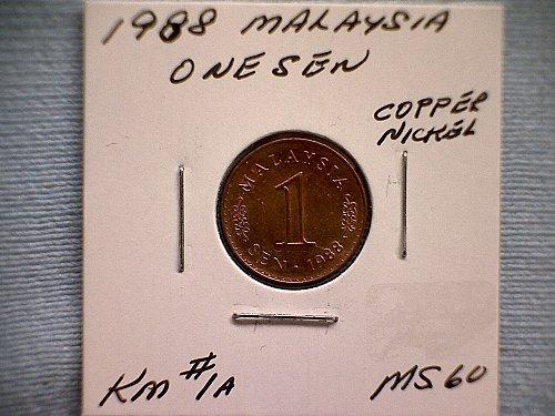1988 MALAYSIA ONE SEN