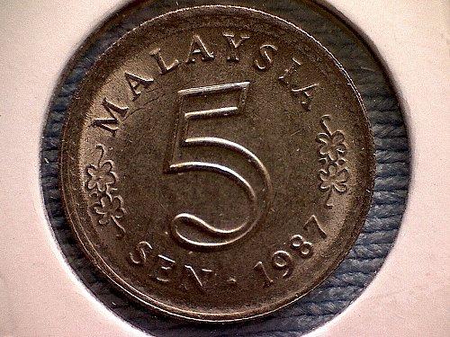 1987 MALAYSIA FIVE SEN
