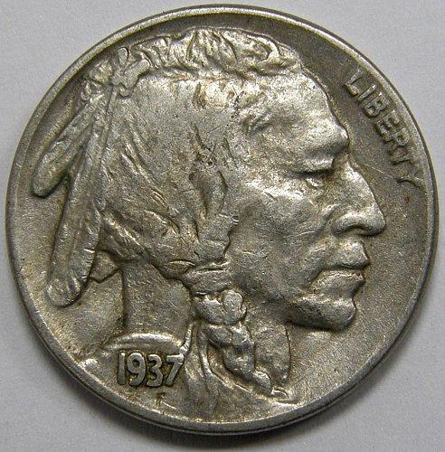 1937 P Buffalo Nickel #2