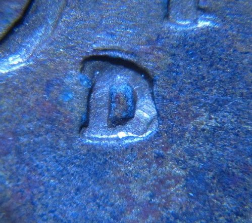 1944 D LINCOLN WHEAT CENT RPM 5 REPUNCHED MINT MARK ERROR