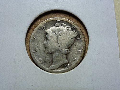 1917 S G Mercury Dime